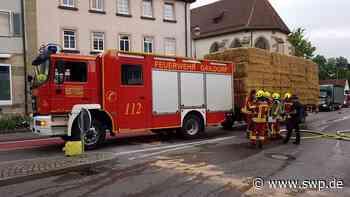 Unfall Gaildorf heute: Plötzlicher Brand: Traktor fängt in der Innenstadt Feuer - SWP