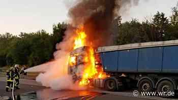 A2 bei Dortmund: Sattelschlepper brennt komplett aus - WR