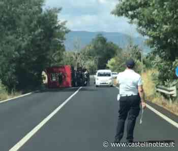 Velletri - Furgone del corriere Bartolini si ribalta lungo la via dei Cinque Archi - Castelli Notizie