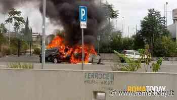 Incendio a Casal Bertone: auto distrutte dalle fiamme