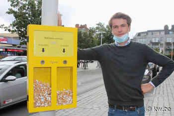 Cigless Bin van jonge Waregemse ondernemer verzamelt sigarettenpeuken voor recyclage