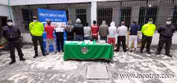 Operación contra el microtrafico termina con 10 detenidos en Chinchiná - La Patria.com