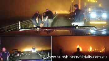 50m wall of fire: Apocalyptic footage of horrific road smash - Sunshine Coast Daily