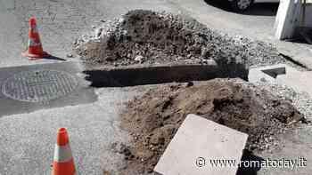 Tor Vergata: lavori in corso per la costruzione dell'impianto fognario