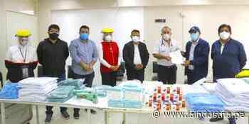 Laredo: municipalidad entrega equipos de protección personal a hospital - La Industria.pe
