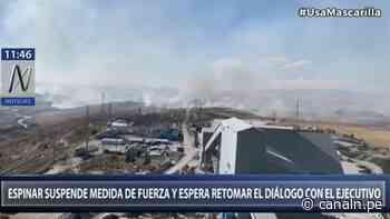 Cusco: Espinar suspende medida de fuerza y espera retomar diálogo con el Ejecutivo - Canal N