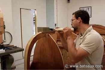 Web série La Vivacia prend forme, collage des lattes de bordé - Bateaux.com