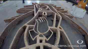Concluyen trabajos para recuperar estructura de la Vírgen de Guadalupe, en Monterrey - Noticieros Televisa
