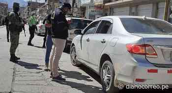 Intervienen a colectiveros y taxistas en Huancavelica - Diario Correo