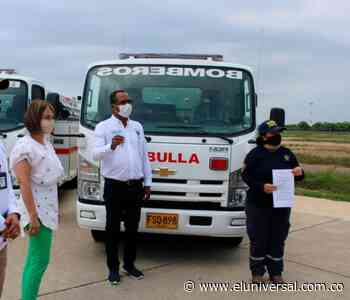 Por primera vez Mahates tiene carro de bomberos - El Universal - Colombia