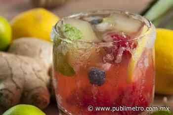 Refresco de jengibre limón y menta para refrescar el organismo - Publimetro México