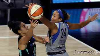 Canada's Kia Nurse finds offensive form to help Liberty win 1st game of season