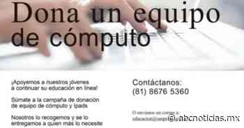 Invita San Pedro a donar computadoras - ABC Noticias MX