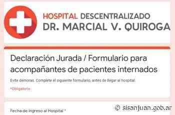 Se agilizará el ingreso de los acompañantes en el Marcial Quiroga - SI SAN JUAN