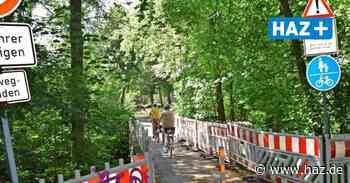 Defekte Brücke in Ihme-Roloven: Radfahrer ignorieren Verbotsschilder - Hannoversche Allgemeine