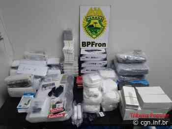 BPFron apreende Fiat Uno carregado com mercadorias estrangeiras em Santa Helena - CGN