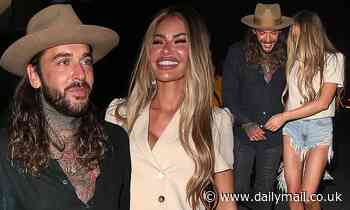 TOWIE's Chloe Sims puts on a giddy display with pal Pete Wicks