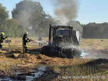 Presse und Traktor geraten in Brand - Westfalen-Blatt