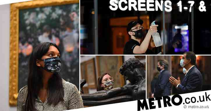 Face coverings rule extended to cinemas and museums from today