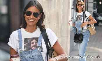 Melanie Sykes opts for fun denim dungarees as she arrives at BBC Radio 2