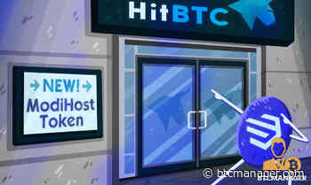 ModiHost's Token Is Live on HitBTC, the Leading European Bitcoin Exchange - BTCMANAGER