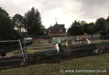 Children's playground hit by fire
