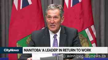 Manitoba amongst leaders in returning to work - CityNews Winnipeg