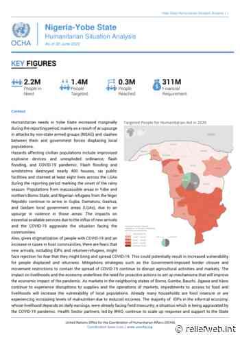 Nigeria - Yobe State: Humanitarian Situation Analysis, As of 30 June 2020 - Nigeria - ReliefWeb