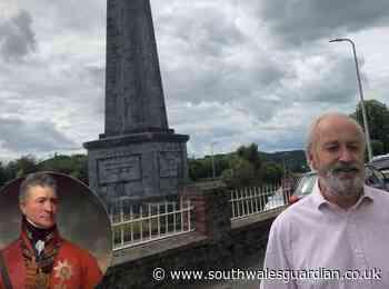 Neil Hamilton backs campaign to save Carmarthen Picton obelisk - South Wales Guardian