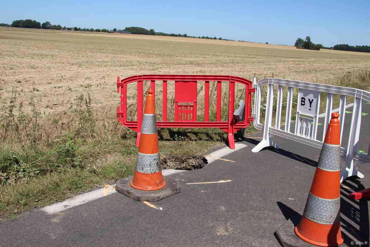 Capelle-les-Grands : la route Bernay-Orbec (D131), fermée après l'ouverture d'une cavité - L'Eveil Normand