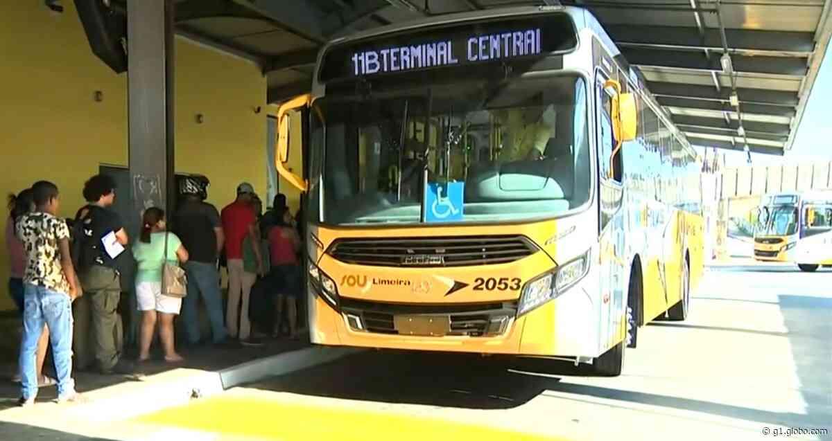 Transporte coletivo de Limeira vai funcionar neste sábado com 50% da frota de veículos - G1
