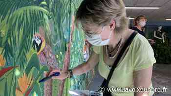 Une fresque réalisée par les habitants de Wimereux et l'artiste Balouz - La Voix du Nord