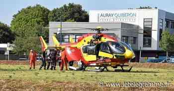 Un jeune homme évacué par hélicoptère après une chute à Auray - Le Télégramme