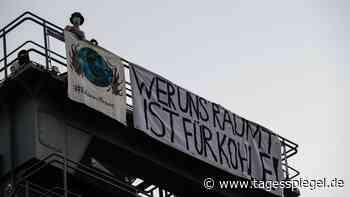 """""""Wer uns räumt, ist für Kohle!"""": Umweltaktivisten besetzen Heizkraftwerk in Berlin - Tagesspiegel"""