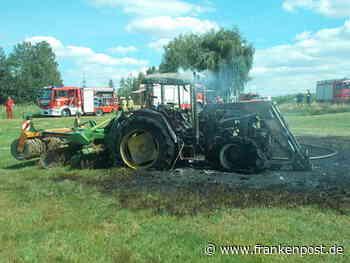 Marktredwitz: Traktor geht in Flammen auf - Frankenpost