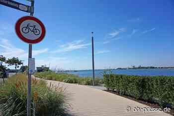 Radfahrverbot am Yachthafen auf Fehmarn - Dennis Angenendt