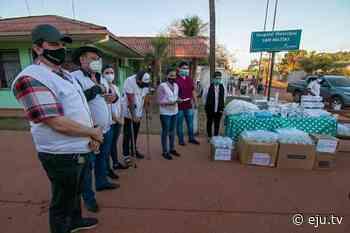 Camacho lleva donaciones a San Ignacio y San Matías - eju.tv