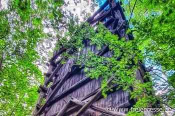 Letzter Wismut-Turm verfällt - Freie Presse