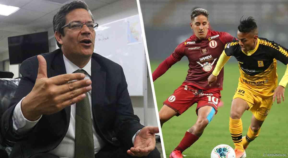 Presidente del IPD sobre la Liga 1: Mientras no haya garantías, no se puede reanudar la competencia - LaRepública.pe