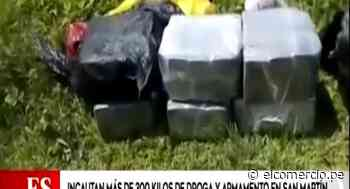 San Martín: PNP incauta más de 300 kilos de droga y descubren pista de aterrizaje clandestina - El Comercio Perú