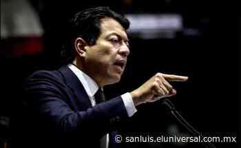 Diputados potosinos respaldan a Mario Delgado como próximo dirigente nacional de Morena - El Universal