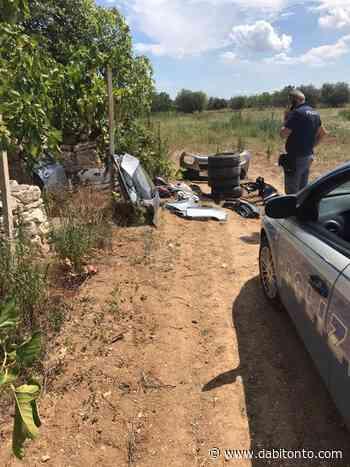 Pezzi di auto rubate e cannibalizzate rinvenuti nelle campagne di Bitonto - da Bitonto