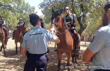 Quand la garde républicaine patrouille - Hebdo de l'Ardèche