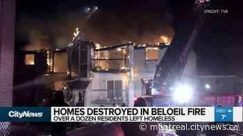 Homes destroyed in Beloeil fire - CityNews Montreal