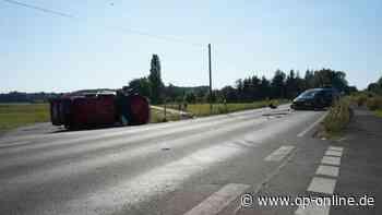 Erlensee: Unfall! Frontalzusammenstoß mit Verletzten – Mann war nicht angeschnallt - op-online.de