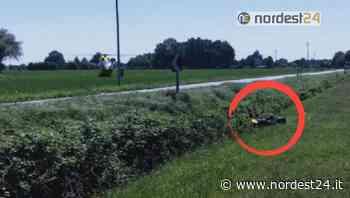 Incidente ad Azzano Decimo: perde il controllo della moto e finisce nel campo - Nordest24.it