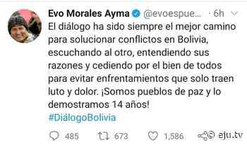 Morales pide diálogo mientras asfixia a los hospitales de La Paz y la Presidenta… - eju.tv