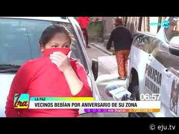 La Paz: Vecinos que consumían bebidas alcohólicas agreden a policías y periodistas - eju.tv
