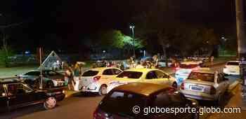 Torcida do Palmeiras comemora título paulista em Prudente; fotos - globoesporte.com