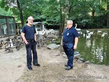 Hattingen hat : Tierunterstützer: Jugendfeuerwehr hilft Tieren der Paasmühle - Teiche mit Wasser gefüllt - Hattingen - Lokalkompass.de